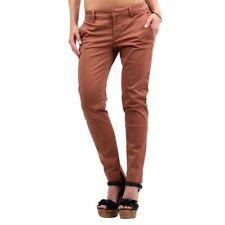 Pantaloni da donna chino marrone