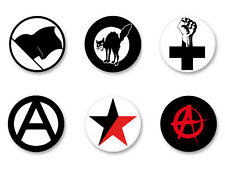 Lot Pack Badge Button Ø25mm Symbole Anarchie Anarchiste Anarchy Anarchist