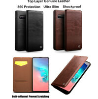 QIALINO Original Real Leather Flip Case Cover For Samsung Galaxy Note 9 S9 S10+