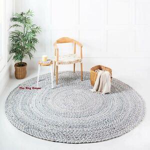 Rug 100% Natural Cotton Reversible Braided style Handmade carpet Modern area rug