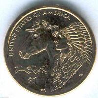 1 Dolar U.S.A. India Sacagawea  2012 D @ Indio y Caballo @ Emision 4 @