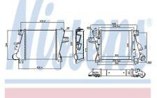 NISSENS Intercooler, charger fits Nissan X-Trail 2.2 Di 4x4 2.2 dCi 4x4