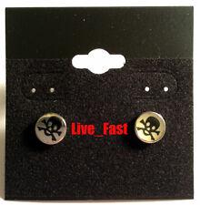 SKULL & CROSSED BONES EARRINGS SET STAINLESS STEEL jolly roger biker jewelry
