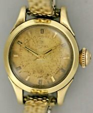 Vintage Running Ω Omega Ladies Swiss Made 14K Gold Capped Winding Wrist Watch