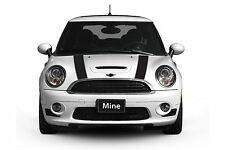 Mini Cooper 2007-2013 Black / Silver Hood Stripe Decals - Exact Fit No trimming