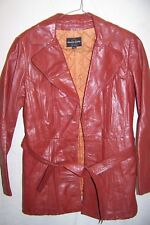 Vintage Korean Genuine Leather Jacket, Women's Small