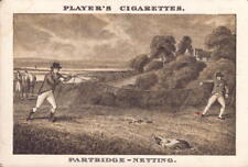 players cigarettes card - ( old sporting prints ) partridge - netting !