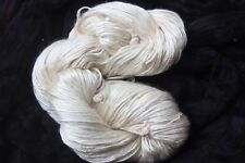 100% Silk Spun from Mulberry Silk Tops - Undyed - 1 Hank 100 Grams- 220 Yards