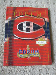 NHL VINTAGE MONTREAL FORUM 1996 CANADIENS vs DALLAS LAST GAME PROGRAM