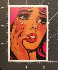Girl Crying Humor Skateboard Laptop Guitar Decal Sticker