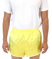 Adult Men's Sports Sportswear Work Out Gym Yellow Athletic Running Shorts