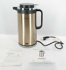 NutriChef Electric Kettle 1.8 Quart Gold Stainless Steel T3