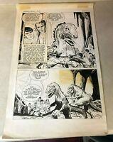 Star Trek Dinosaur Planet original art 1979 STUNNING half splash T-REX CAPT KIRK