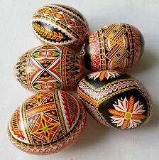 5 Real Ukrainian hand made Pysanky Easter Eggs Ukraine Pisanki Pysanka egg shell