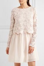 NEW See by Chloe Guipure lace and cotton mini dress in Blush - Size US 4