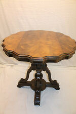 Beautiful and Unusual French Provincial Book Matched Walnut Center Table