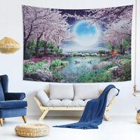 Wandteppich Tapisserie Wandbehang Matte Kirschblüte Wandtuch Wandtuchst Blumen