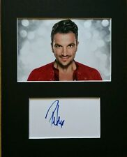 Peter Andre, 'Singer, Strictly come dancing' hand signed mounted autograph.