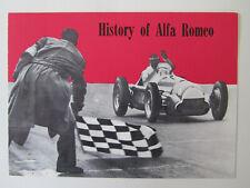Alfa Romeo History 1960 Prospekt Brochure