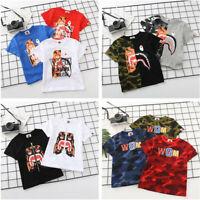 2020 Bape Kids Tiger Shark WGM T-Shirt Tops Summer Tee More Style Shirt