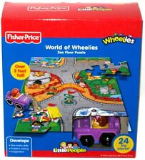 FISHER PRICE LITTLE PEOPLE WORLD OF WHEELIES ZOO FLOOR PUZZLE 24 PCS 2 FT TALL