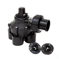 Black Plastic 11/4-in Inlet Female Manual Irrigation Underground Sprinkler Valve