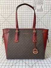 NWT Michael Michael Kors Voyager Medium Multifunction Top Zip Tote Signature Bag