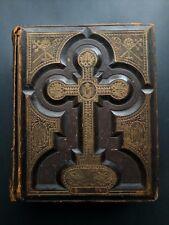 Collectible, Antique Victorian Bible, 1800's, Illustrated, Illman Bro. Engraving