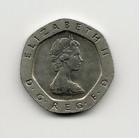 World Cpins - UK Great Britain 20 Pence 1982 Coin KM# 931 Better Grade