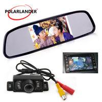 """4.3"""" Parcheggio 7 LED Vista Posteriore Telecamera Auto Monitor Visione notturna"""