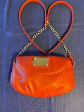 Nine West Red Pebble leather Small Shoulder bag Cross body Purse Pre-owned