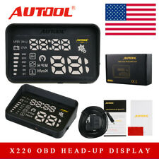 Car HUD Head-Up Display OBD2 Multi-Function Speed Warning System MPH KPM X220
