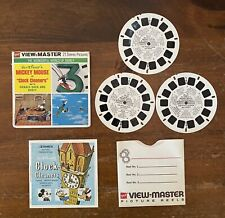 Vintage 1971 GAF View-Master Mickey Mouse Clock Cleaners w Donald + Goofy B 551