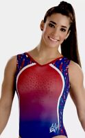 Aly Raisman GK ELITE Gymnastics TRIED & TRUE Leotard USA Patriotic E3194  Sz: CL