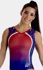 Aly Raisman GK ELITE Gymnastics TRIED & TRUE Leotard USA Patriotic E3194  Sz: CL