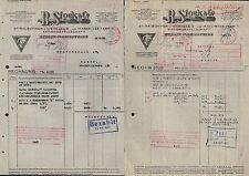 BERLIN-MARIENFELDE, 2x Rechnung 1933/34, Spiralbohrer-Fabrik R. Stock & Co.