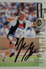 John Godina UCLA Autograph Signed 1996 Upper Deck UD Olympicard #109 SHOT PUT  K