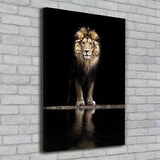 Leinwand-Bild Kunstdruck Hochformat 70x100 Bilder Löwe Porträt