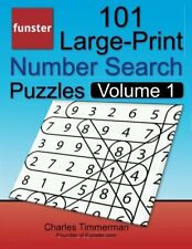 101 Large-Print Number Search Puzzles, Volume 1, Funster for adults and kids