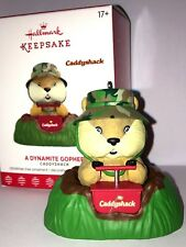 HALLMARK Keepsake 2017 A DYNAMITE GOPHER Caddyshack CHRISTMAS ORNAMENT New