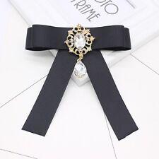 Elegant Bow Tie Vintage Design Clear Rhinestone Brooch Pin Jewellery Ladies