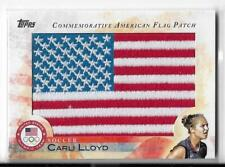 STUNNING RARE 2012 TOPPS OLYMPIC CARLI LLOYD FLAG PATCH CARD ~ USA SOCCER LEGEND