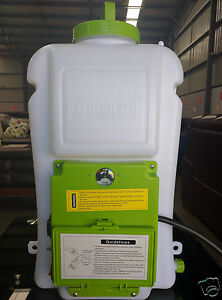 NEW 16L 8AH FARMGUARD RECHARGEABLE BATTERY ELECTRIC KNAPSACK WEED KILLER SPRAYER