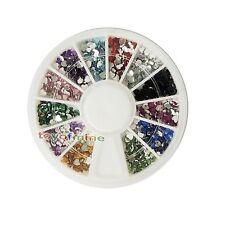 Nail Art Cuore Strass Glitters punte acriliche manicure della decorazione Wheel