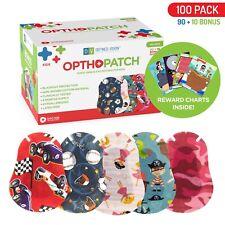 Kids Adhesive Eye Patches Fun Boys / Girls Design 90 + 10 Bandages Reward Chart