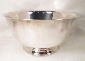 Oneida Sons of Liberty Silverplate Bowl Reproduction of Original by Paul Revere