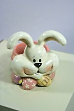 Crazy Bunny Rabbit with Easter Eggs Resin Tea Light Holder, Excellent Condition