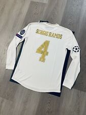 Sergio Ramos Soccer Jersey Long Sleeve Player Version Real Madrid Home Small
