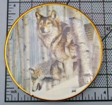 Hamilton Collection by Al Agnew Year Of The Wolf Plate Broken Silence 1998