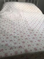 Shabby Chic cotton multi color floral & stripes ruffled edge duvet with 2 shams